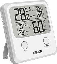 BIlinli Indoor Digital LCD Thermometer Hygrometer
