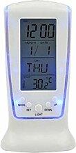 BIlinli LCD elektronische Uhr Luminous Lazy Wecker