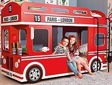 Bilira_Kids Etagenbett Autobett Kinderbett 90x200