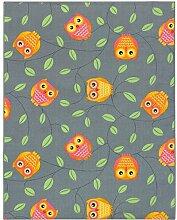 BilligerLuxus Teppich Eulen Kinderteppich Happy