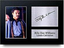 Billy Dee Williams Signiert A4gedrucktem