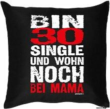 BIN 30 SINGLE .....- Witziges Zusatzkissen mit