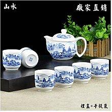 Bin Zhang Geschenkset blau und weiß Porzellan