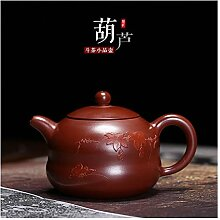 Bin Zhang Gourd Teekanne (Farbe: Rot)