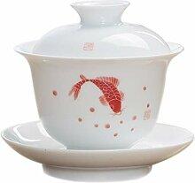 Bin Zhang Große weiße Porzellan-Trine mit Gott