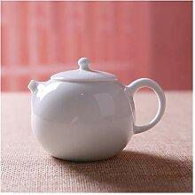 Bin Zhang Keramik-Teekanne, handweiß, Porzellan,