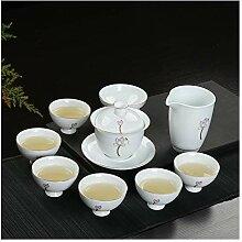 Bin Zhang Keramik Teeset Paket weißer Porzellan