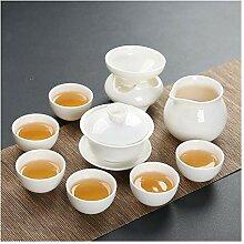 Bin Zhang Porzellan Teeservice Kung Fu Tea Gaiwan 4