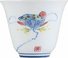 Bin Zhang Porzellan-Teetasse, handbemalt, klein,
