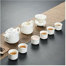 Bin Zhang Set aus weißem Porzellan, weiße