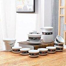 Bin Zhang Teedose, Porzellan, Keramik, Weiß,
