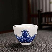 Bin Zhang Teeset aus Porzellan, Blau und Weiß,