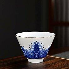 Bin Zhang Teeset Kung Fu, Porzellan, Blau und Weiß