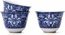Bin Zhang Teetasse aus Keramik, blau/weiß,