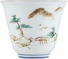 Bin Zhang Teetasse aus Porzellan, handbemalt, klein
