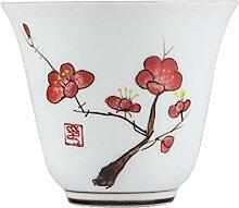 Bin Zhang Teetasse aus Porzellan, handbemalt, Kung