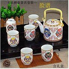 Bin Zhang weißes Porzellan Teeset Kung Fu Teeset