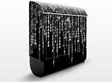 Binärischer Code II 39x46x13cm Briefkasten, Standbriefkasten, Briefkästen, Briefkasten, Design, Edelstahl, Brief Kasten, Brief Kästen, FILL ME
