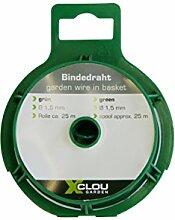 Bindedraht Planzendraht Blumendraht Basteldraht galvanisiert grün 25, 50 m, Ausführung:grün 1.50 mm x 25m auf Spule