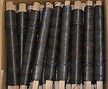 Bindedraht, Wickeldraht, Blumendraht, Draht blau/schwarz geglüht, Stärke 0,70mm (100)