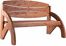 Binder 3-Sitzer Gartenbank, Bank, Holzbank wetterfest lasiert aus Holz mit ergonomischer Rückenlehne als ideale Terrassenmöbel, Massive Sitzbank belastbar bis 240 KG Jorn Kirschbaum