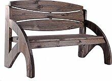 Binder 3-Sitzer Gartenbank, Bank, Holzbank wetterfest lasiert aus Holz mit ergonomischer Rückenlehne als ideale Terrassenmöbel, Massive Sitzbank belastbar bis 240 KG Jorn Kolonial