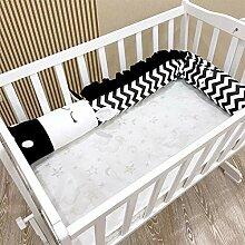 BINGMAX Bettschlange Baby Nestchenschlange Zebra