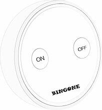 BINGONE Funkschalter Set Lichtschalter für LED-Licht, Leuchtstofflampe, CFL, Glühlampe, Wolframlampe, Halogenlampe, Ceilin Fan etc. (Weiß)