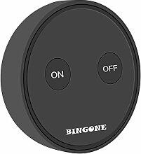 BINGONE Funkschalter Set Wireless Lichtschalter für LED-Licht, Leuchtstofflampe, CFL, Glühlampe, Wolframlampe, Halogenlampe, Ceilin Fan etc. (Schwarz)