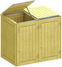 BINTO Holz Mülltonnenbox System 2K - für zwei