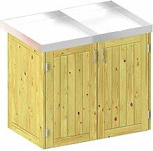 BINTO Holz Mülltonnenbox System 2P - für zwei
