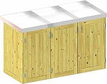 BINTO Holz Mülltonnenbox System 3P - für drei