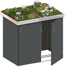 Binto Mülltonnenbox 2er-Box HPL-Schiefer