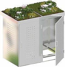 BINTO Mülltonnenbox Edelstahl System 2P - für