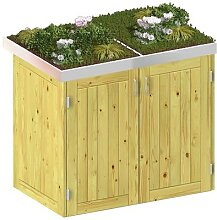 Binto Mülltonnenbox für 2 Behälter, Nadelholz