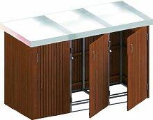 BINTO Mülltonnenbox Hartholz System 3P inkl.