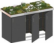 BINTO Mülltonnenbox HPL schiefer System 3P - für