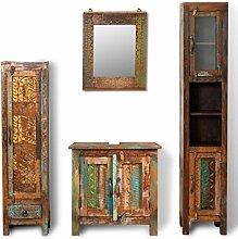 binzhoueushopping Badezimmer-Set aus antikem Holz