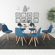 binzhoueushopping Esstisch und Stühle, 7 Stück,
