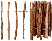 binzhoueushopping Lattenzaun Haselnussholz