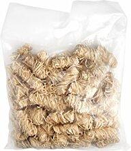 BIO-Anzünder aus Holzwolle und Wachs, 4 kg (2 Beutel/Inhalt pro Beutel ca. 125 Stück) von Allgrill ®