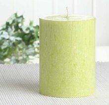Bio-Kerze / Stearinkerze, 10 x 7,4 cm Ø, lindgrün
