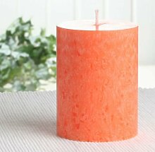Bio-Kerze / Stearinkerze, 10 x 7,4 cm Ø, orange