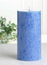 Bio-Kerze / Stearinkerze, 12 x 6 cm Ø, blau