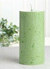 Bio-Kerze / Stearinkerze, 12 x 6 cm Ø, grün