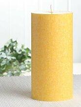 Bio-Kerze / Stearinkerze, 15 x 7,4 cm Ø, gelb