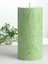 Bio-Kerze / Stearinkerze, 15 x 7,4 cm Ø, grün