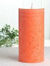 Bio-Kerze / Stearinkerze, 15 x 7,4 cm Ø, orange