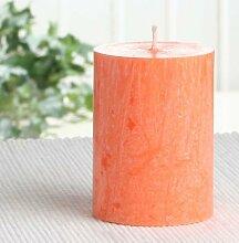 Bio-Kerze / Stearinkerze, 8 x 6 cm Ø, orange