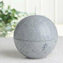 Bio-Kerze / Stearinkerze (Kugelkerze), 8 cm Ø,